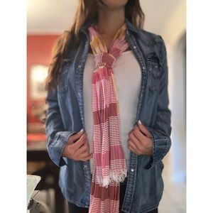Forever 21 Pink & White Scarf
